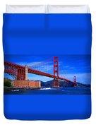 Golden Gate Bridge Panoramic View Duvet Cover