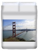 Golden Gate Bridge - San Francisco Duvet Cover