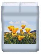 Golden Poppies Impasto Duvet Cover