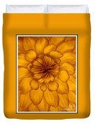 Golden Sunshine - Dahlia Duvet Cover
