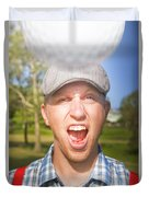Golf Four And Out Cold Duvet Cover