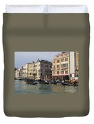 Gondolas In The Grand Canal Duvet Cover