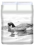 Goose In The Water Duvet Cover