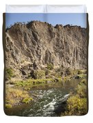 Goose Rock Above John Day River Oregon Duvet Cover