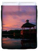 Gorton Pond Sunset Warwick Rhode Island Duvet Cover