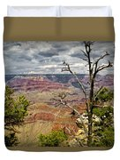 Grand Canyon View From The South Rim Duvet Cover