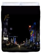 Granville Street At Night Vancouver Duvet Cover