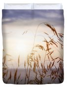 Grass At Sunset Duvet Cover