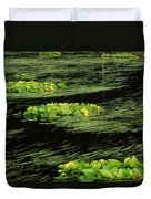 Grasses And Lilies In Beaver Pond Duvet Cover
