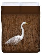 1- Great Egret Duvet Cover