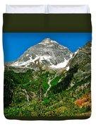 Great Glacier Trail In Glacier Np-british Columbia Duvet Cover