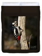 Great Spotted Woodpecker  Duvet Cover