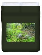 Green Forest Duvet Cover