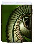 Green Spiral Staircase Duvet Cover