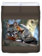 Grey Foxes Duvet Cover