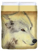 Grey Wolf Art Duvet Cover