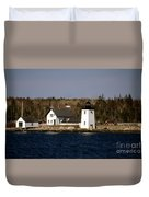 Grindel Point Lighthouse Duvet Cover