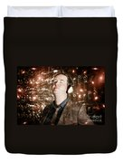 Groovy Retro Clubbing Guy At A Silent Trance Rave Duvet Cover