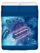 Group Of Escherichia Coli Bacteria Duvet Cover