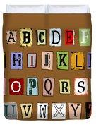 Grunge Alphabet Duvet Cover