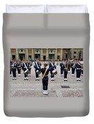 Guards Changing Shifts. Kungliga Slottet.gamla Stan. Stockholm 2 Duvet Cover