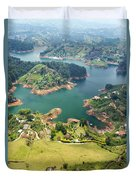 Guatape Lake Duvet Cover
