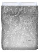 Guatemala Street Map - Guatemala City Guatemala Road Map Art On  Duvet Cover
