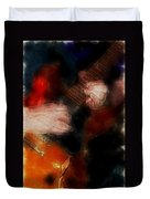Guitar Traveling Pigments Duvet Cover