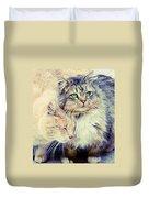 Gutter Kitties Seven Duvet Cover