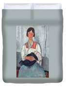 Gypsy Woman With Baby Duvet Cover by Amedeo Modigliani