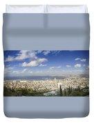 Haifa Bay Panorama Duvet Cover