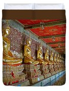 Hall Of Buddhas At Wat Suthat In Bangkok-thailand Duvet Cover