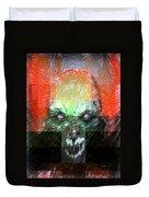 Halloween Mask Duvet Cover