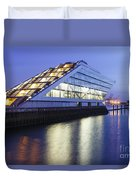 Hamburg Dockland At Night Duvet Cover