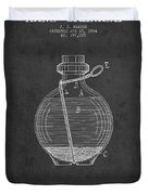 Hand Grenade Patent Drawing From 1884 Duvet Cover by Aged Pixel