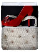 Handbag With Stiletto Duvet Cover