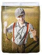 Happy The Golf Man Duvet Cover