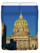 Harrisburg, Pennsylvania, City Skyline Duvet Cover