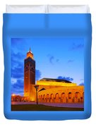 Hassan II Mosque In Casablanca Duvet Cover