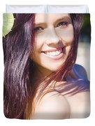 Hawaiian Girl In Hawaii Duvet Cover