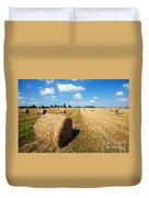 Haystacks In The Field Duvet Cover
