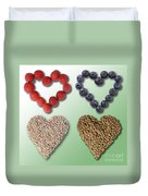 Heart-healthy Foods Duvet Cover