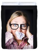Hectic Business Person Under Stress Overload Duvet Cover