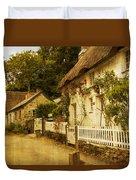 Helford Cottages Duvet Cover
