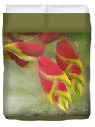 Heliconia Rostrata Duvet Cover