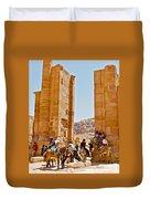 Hellenistic Gateway In Petra-jordan  Duvet Cover