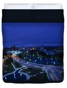 High Angle View Of A City, Big Spring Duvet Cover
