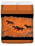 High Desert Horses Duvet Cover