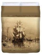 Historic Seaport Schooner Duvet Cover
