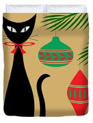 Holiday Cat Duvet Cover